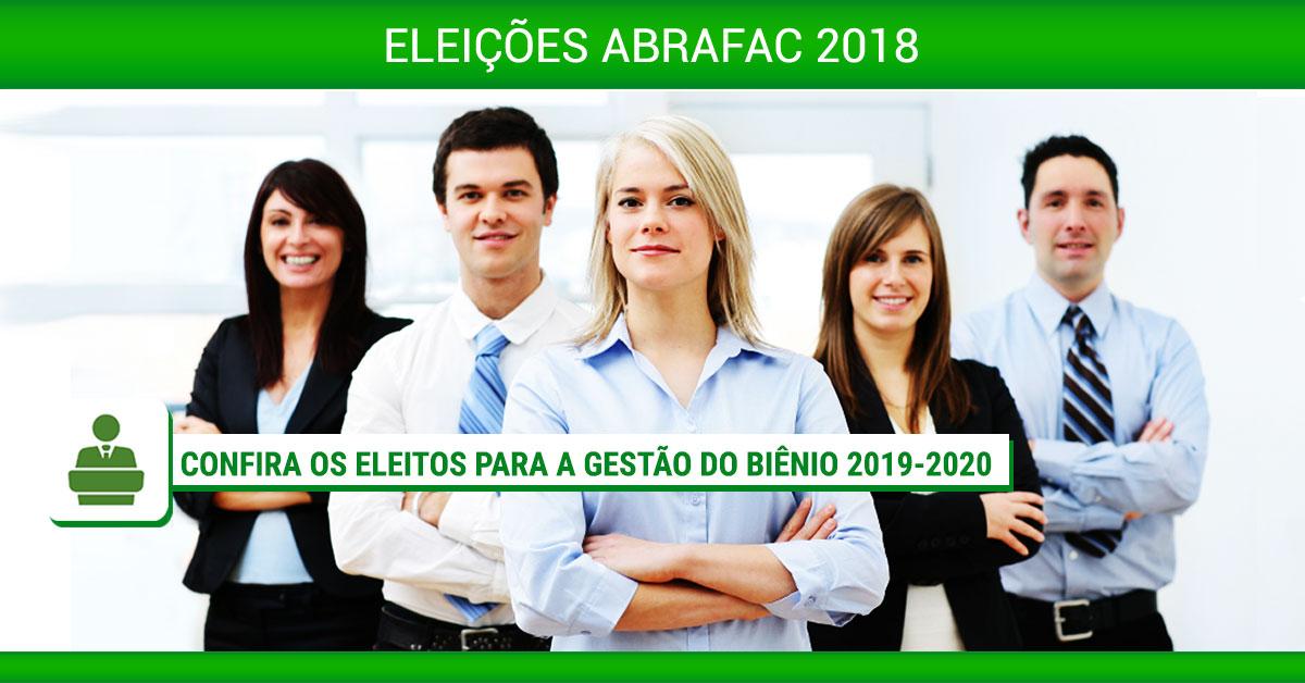 Eleições ABRAFAC 2018: Confira os eleitos para a gestão do biênio 2019-2020