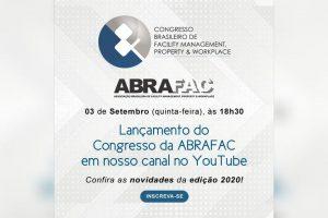 Lançamento oficial do Congresso ABRAFAC 2020 ao vivo no YouTube, nesta quinta, 3 de setembro, às 18h30