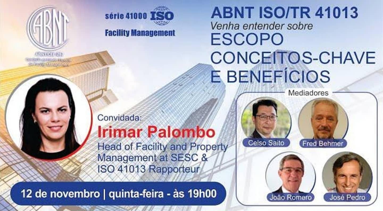 ABRAFAC integra nesta quinta (12) webinar da CEE-267 Facility Management sobre a ABNT ISO/TR 41013