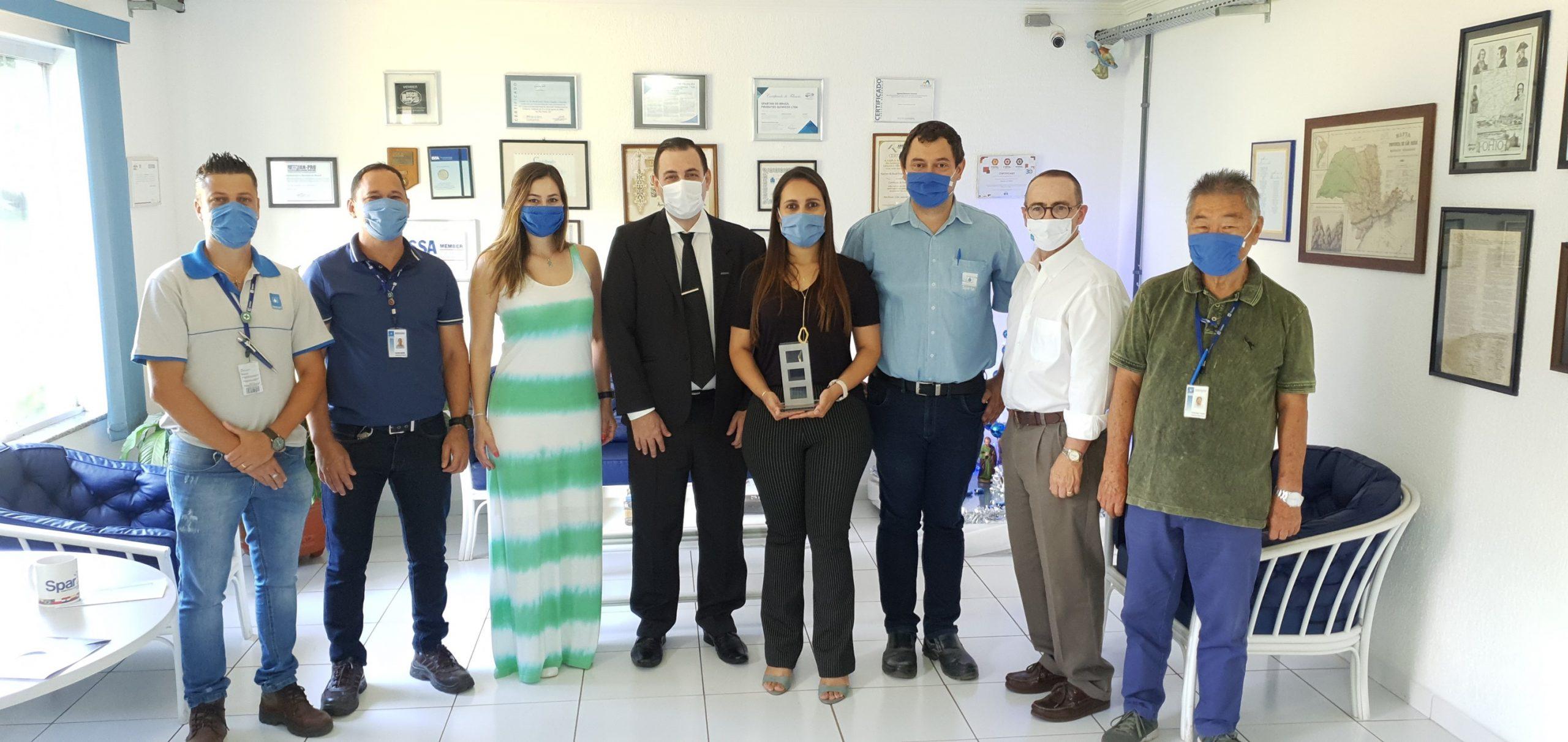 "Prêmio ABRAFAC 2020: Spartan do Brasil recebe troféu pelo trabalho ""Gerenciamento – Novo Coronavírus"""