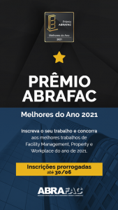 Prêmio ABRAFAC Melhores do Ano 2021 tem inscrições prorrogadas até 30 de junho